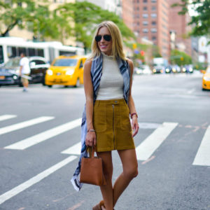 Back To School Outfit Corduroy Skirt