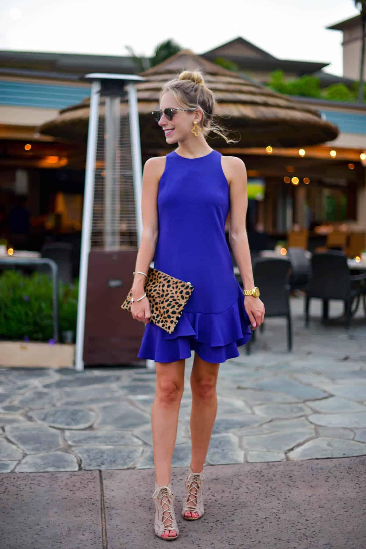 Chelsea28 Tiered Ruffle Hem Dress