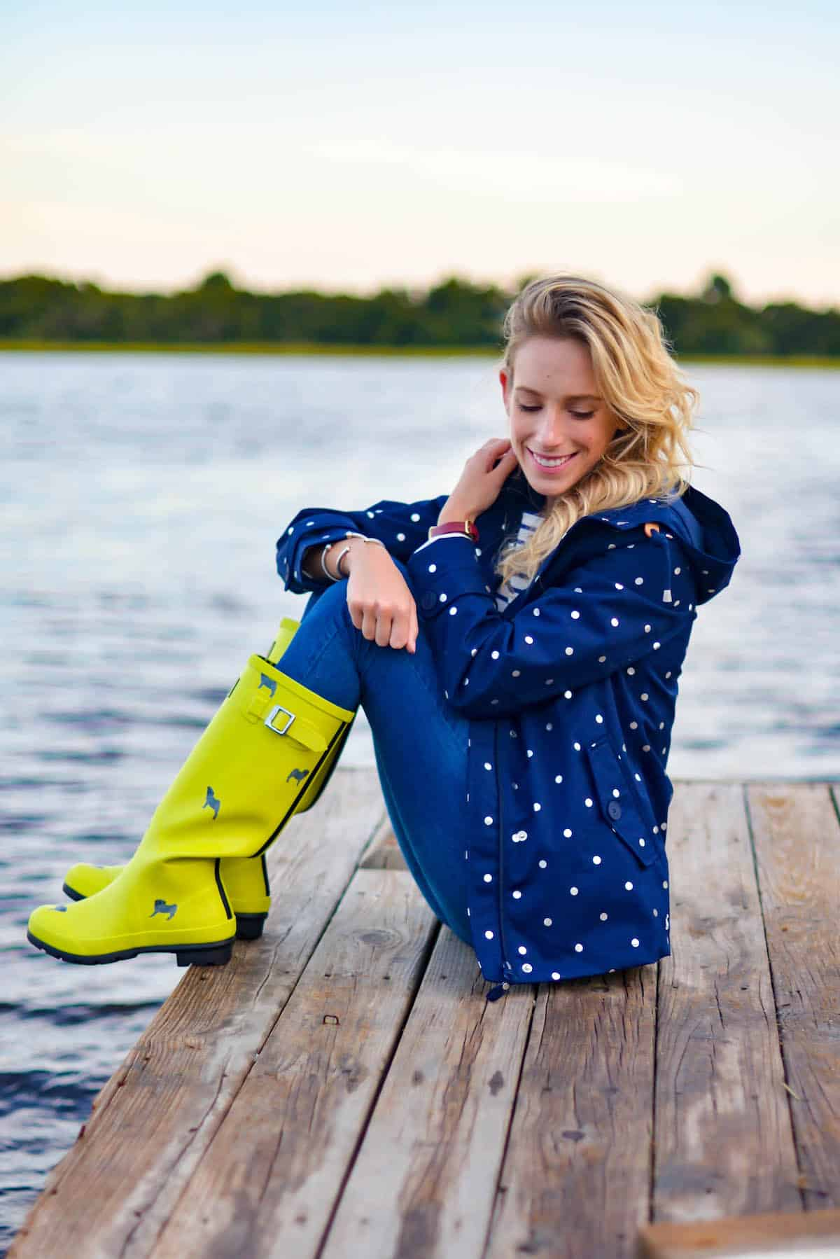 Joules Printed Rain Boots