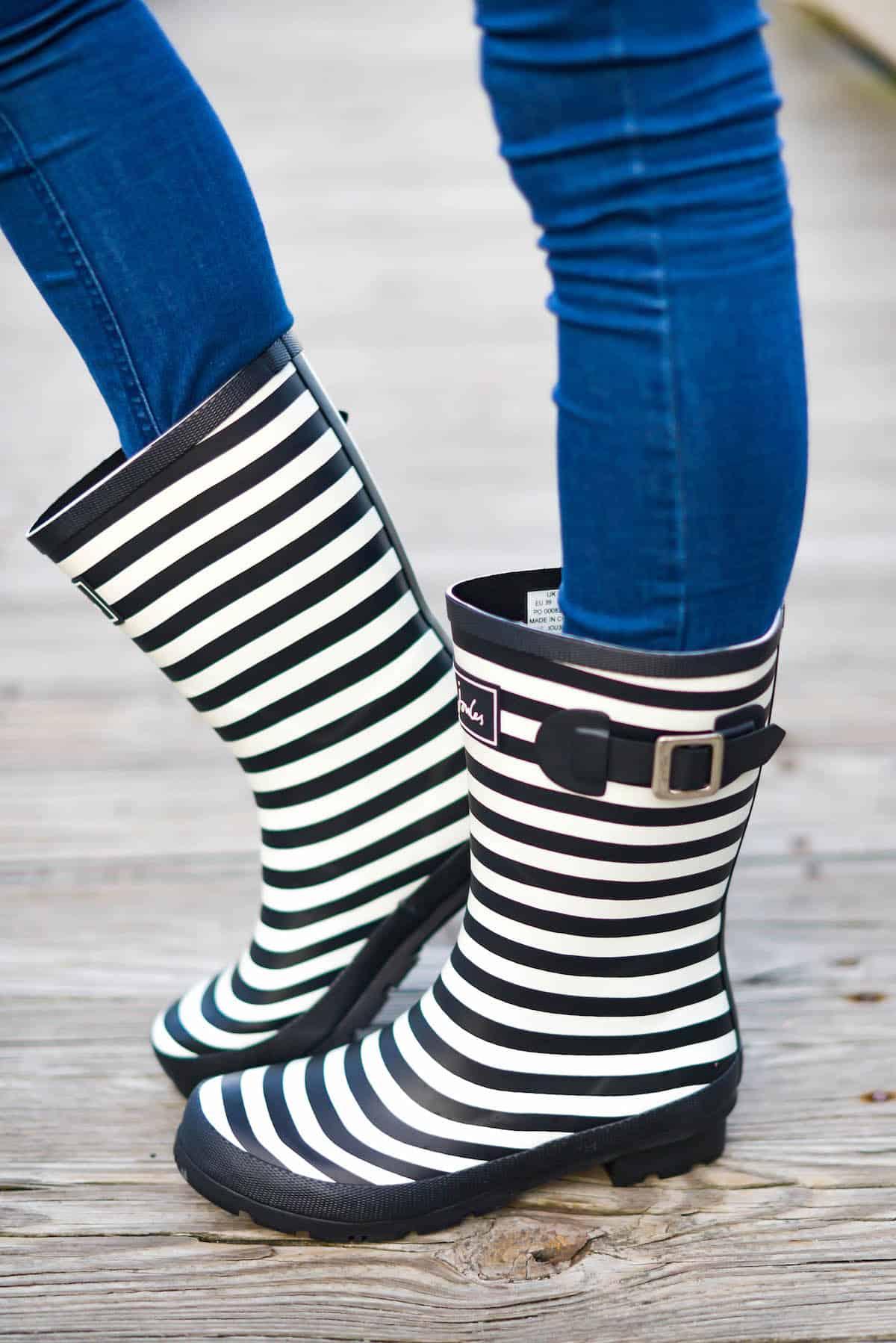 Joules Stripe Rain Boots