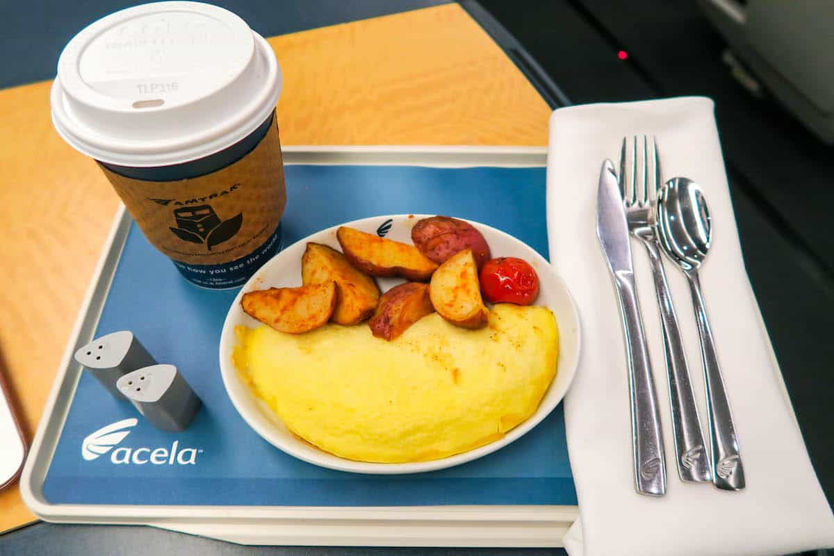 Amtrak Acela Train Dining