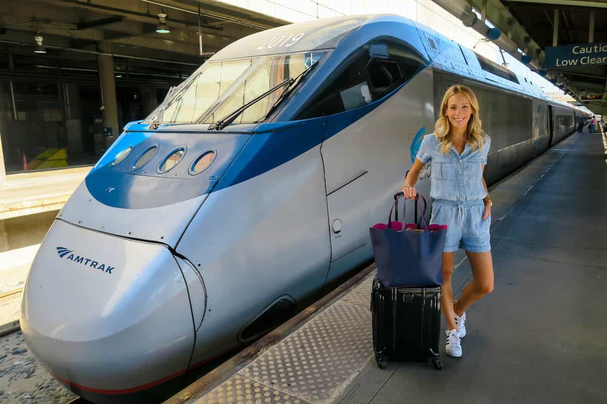 My First Amtrak Acela Train Experience Katie S Bliss