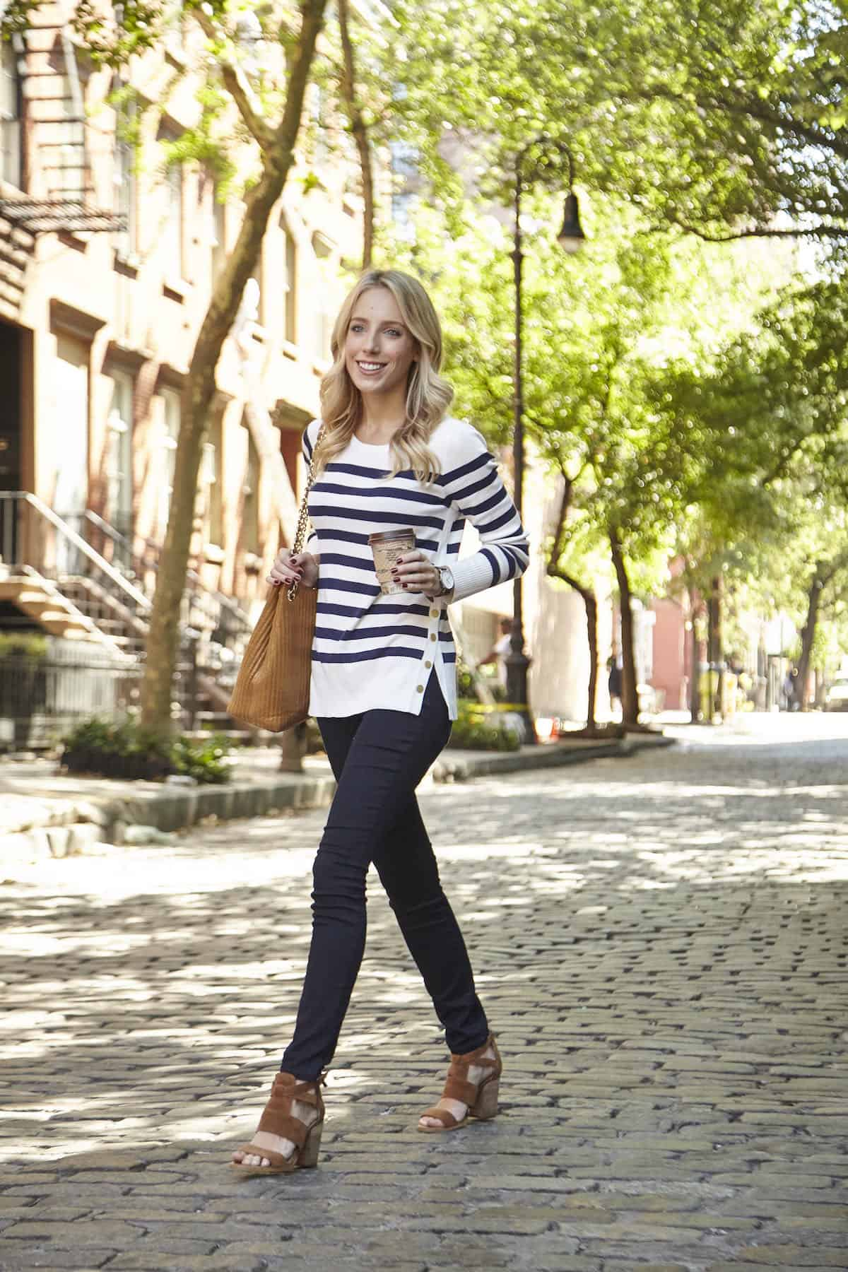 Maison Jules Stripe Sweater