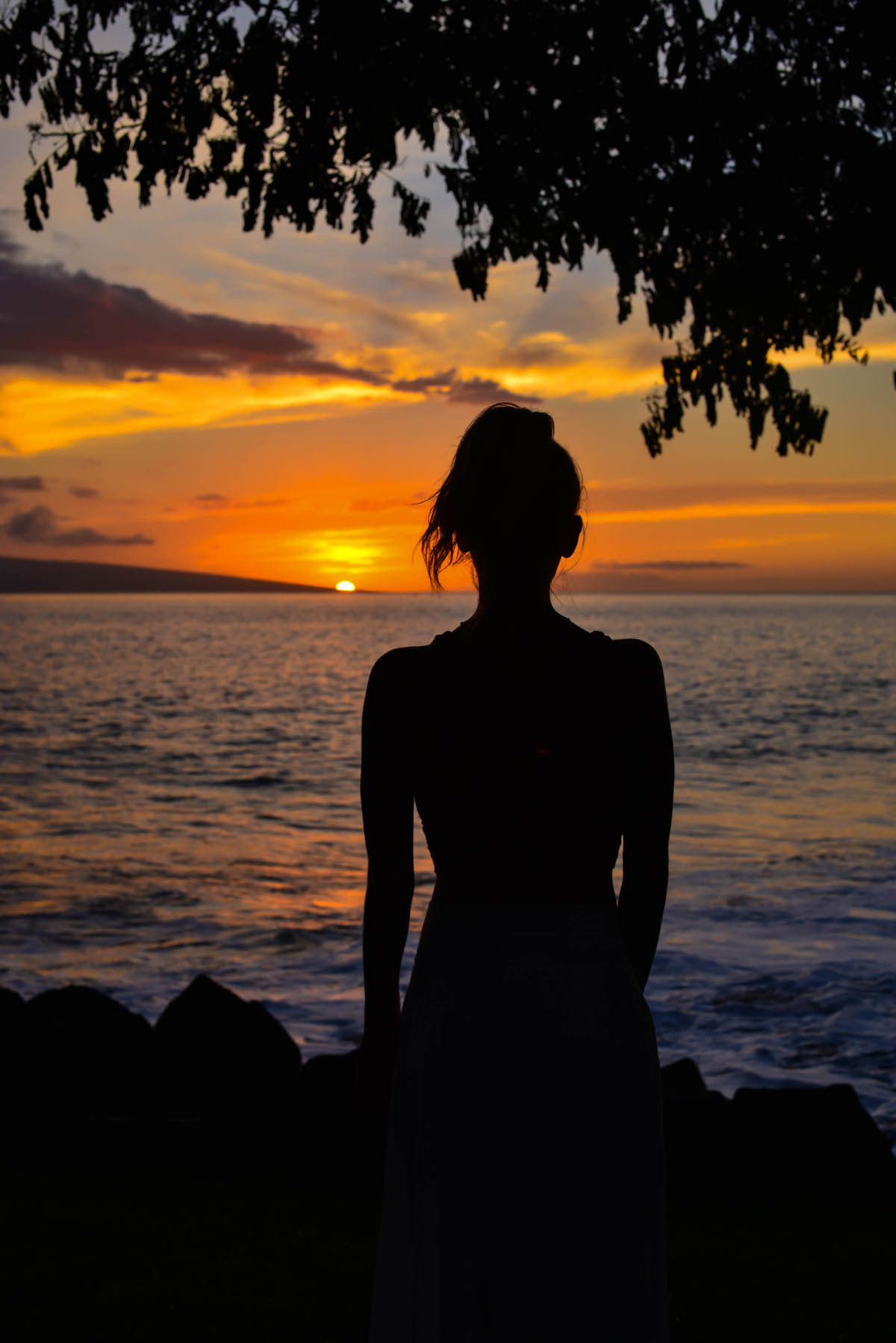 Maui Sunset Vignette