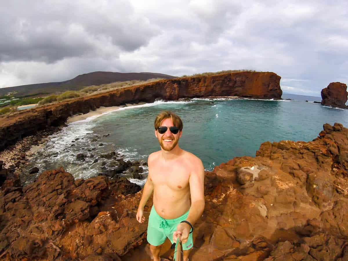 Sweetheart Rock Lanai Hawaii