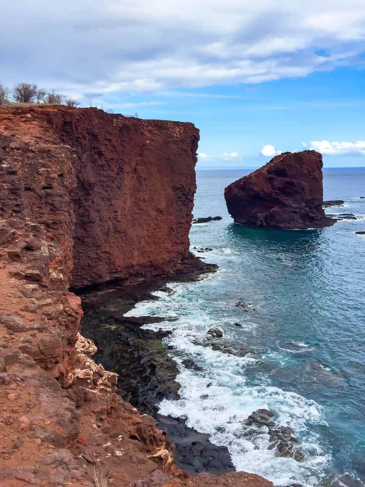 Sweetheart Rock Lanai Island, Hawaii