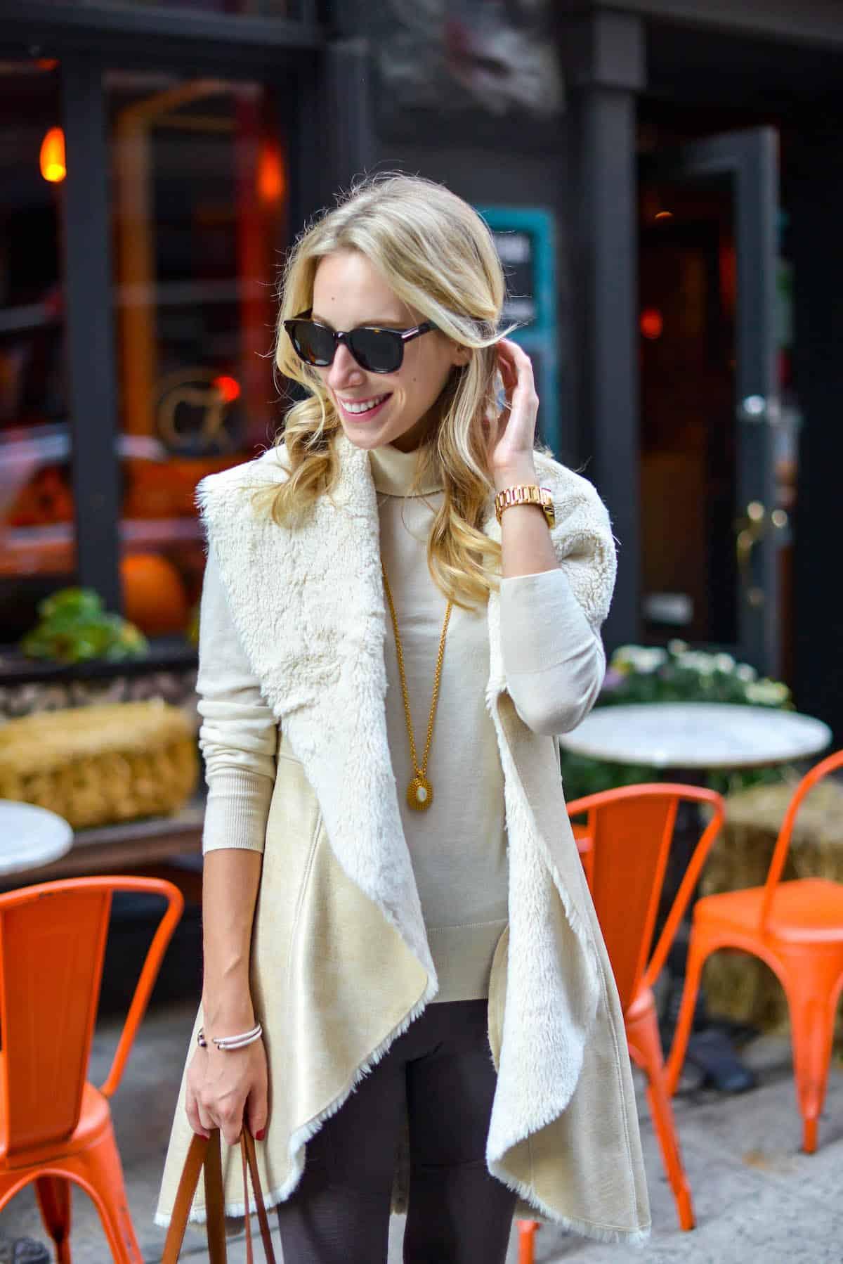Eliza J Faux Fur Vest