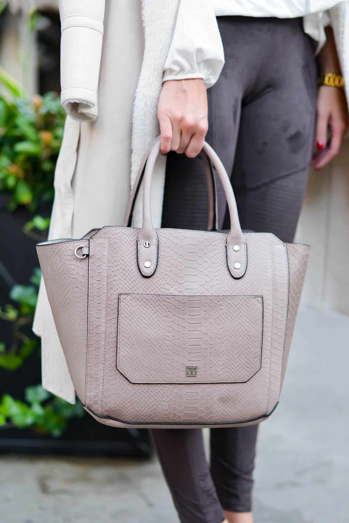 Ivanka Trump Embossed Leather Tote