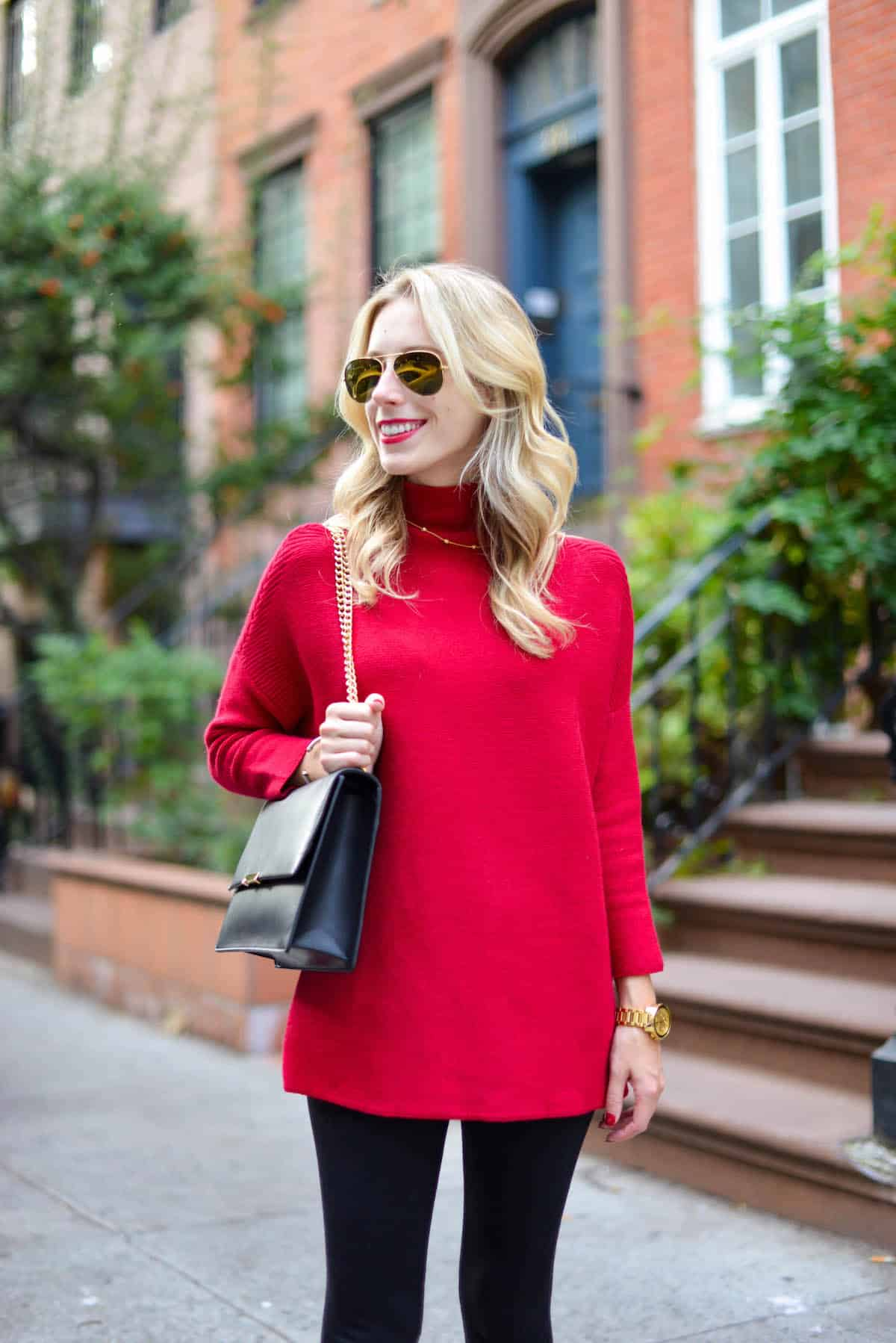 Red Oversized Sweater