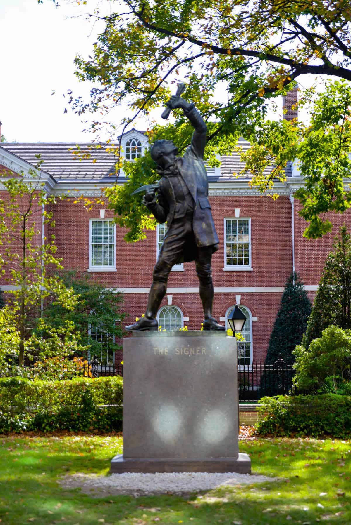 The Signer Statue Philadelphia