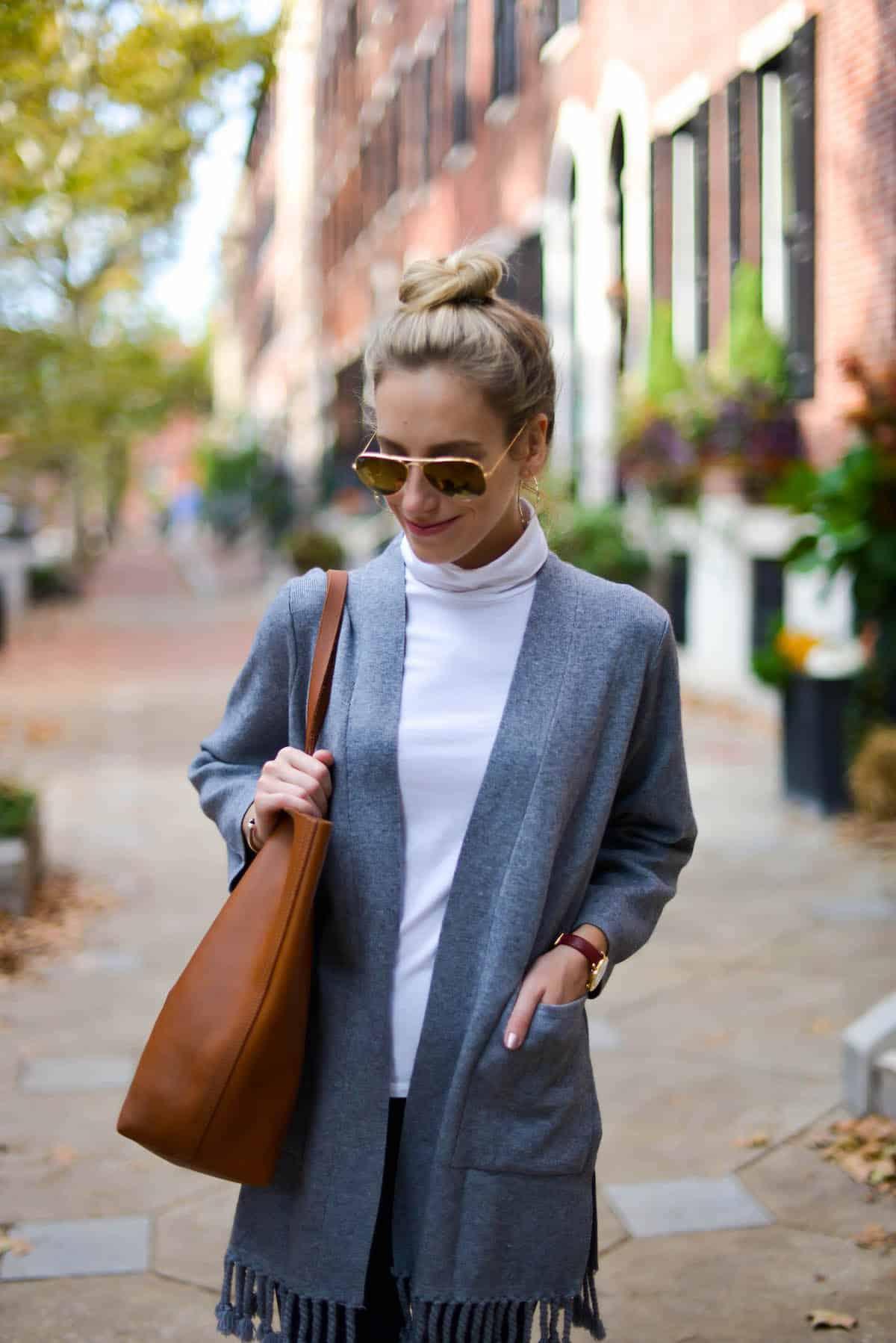 Chicwish Grey Tassel Cardigan