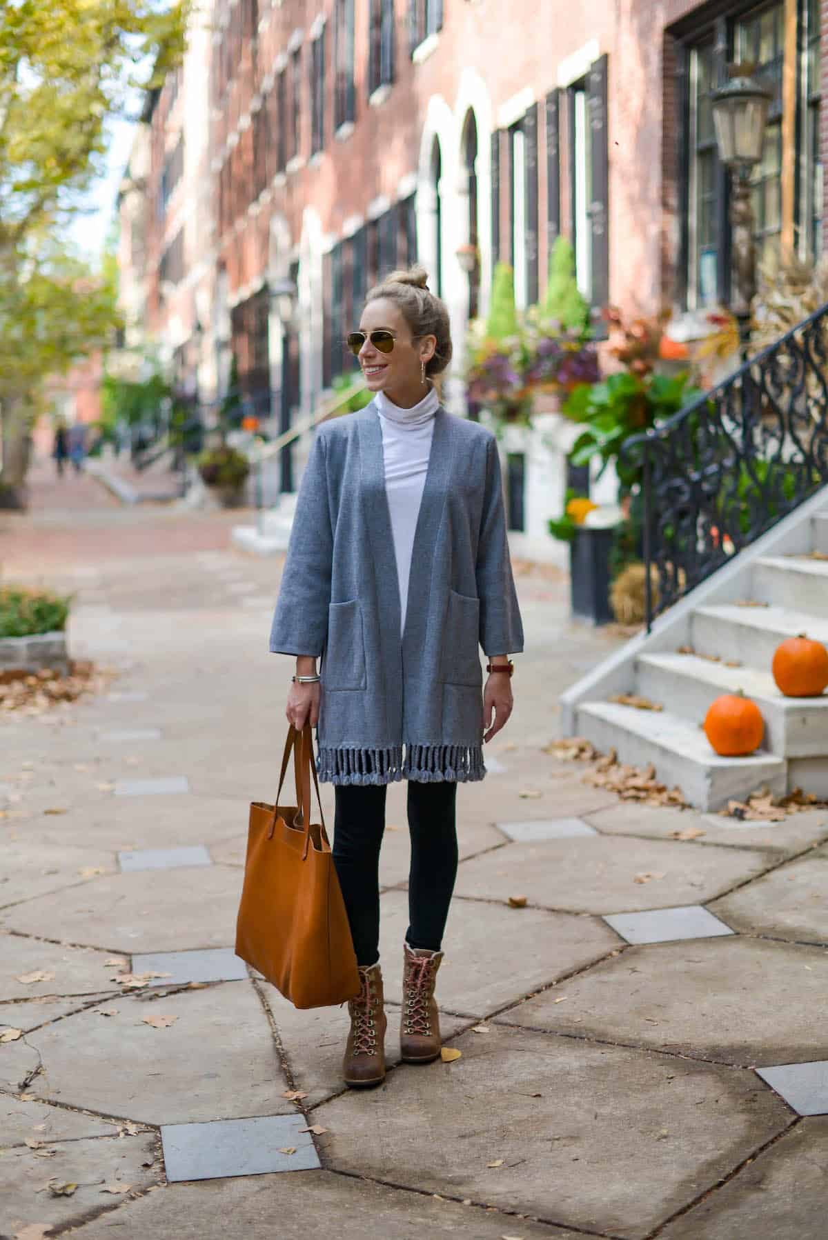 Chicwish Grey Tassel Cardigan
