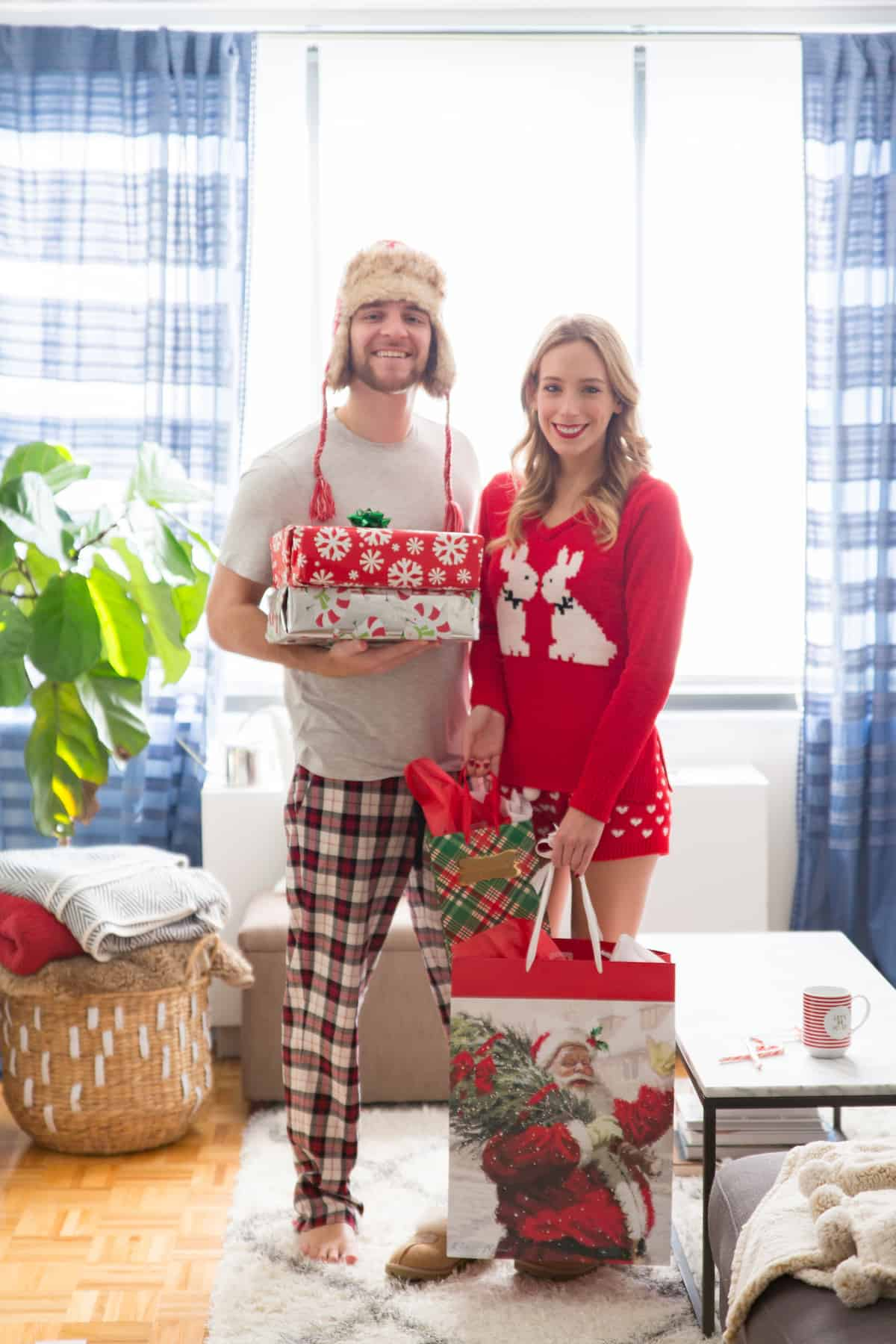 417f53f3951 His   Her s Christmas Pajamas + A Peek At Our Holiday Decor ...