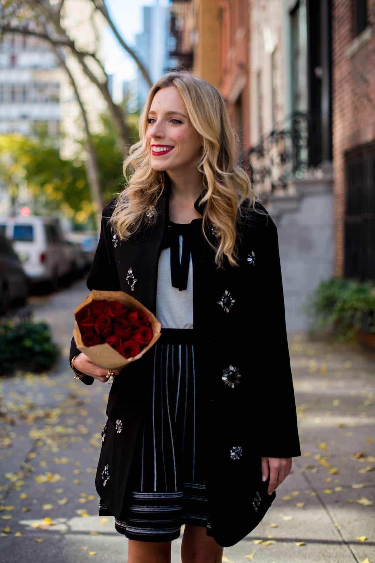 Kate Spade Black Embellished Coat