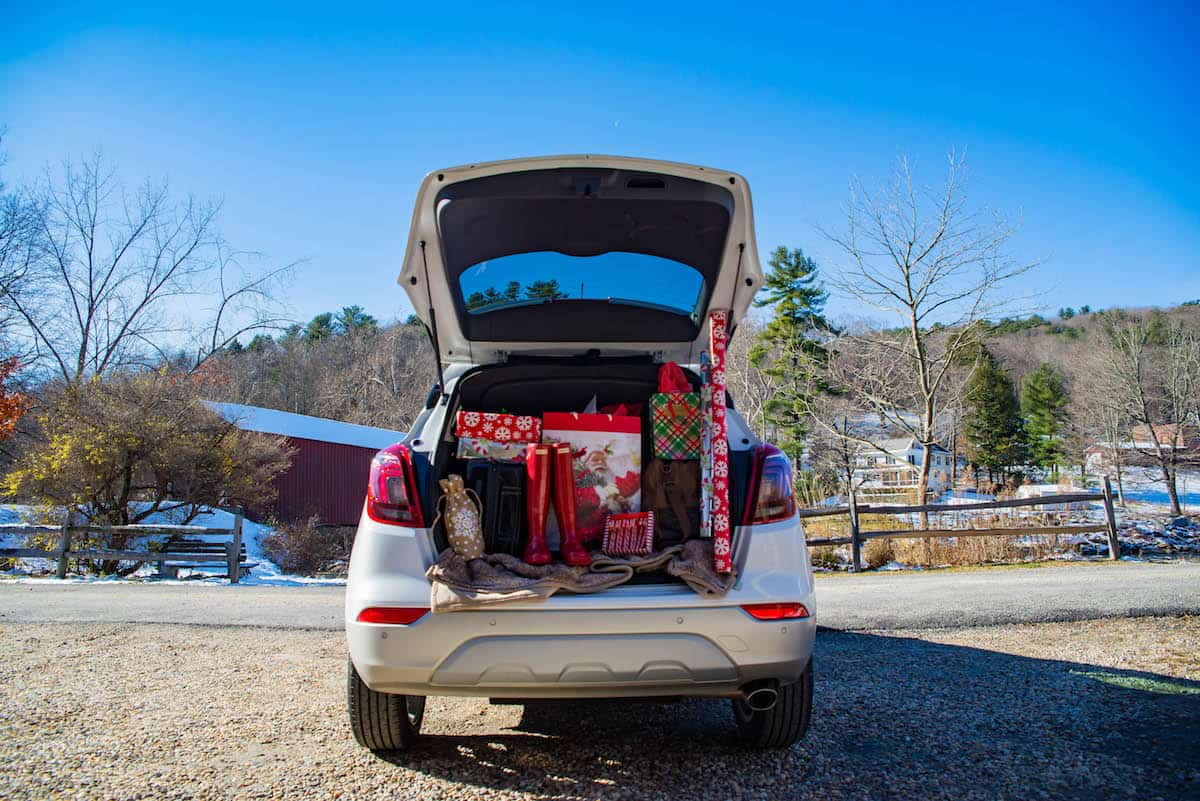 Car Trunk Filled With Presents