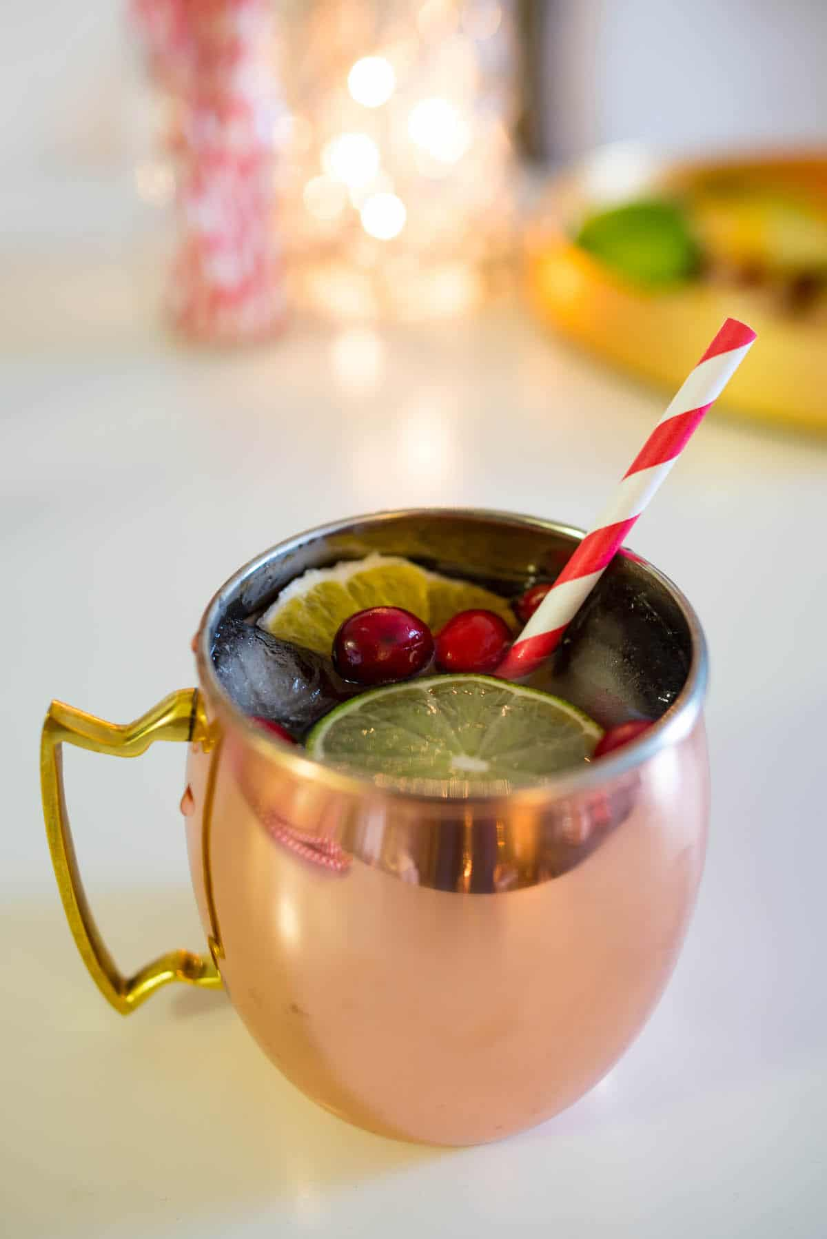 Cranberry Pomegranate Moscow Mule Recipe