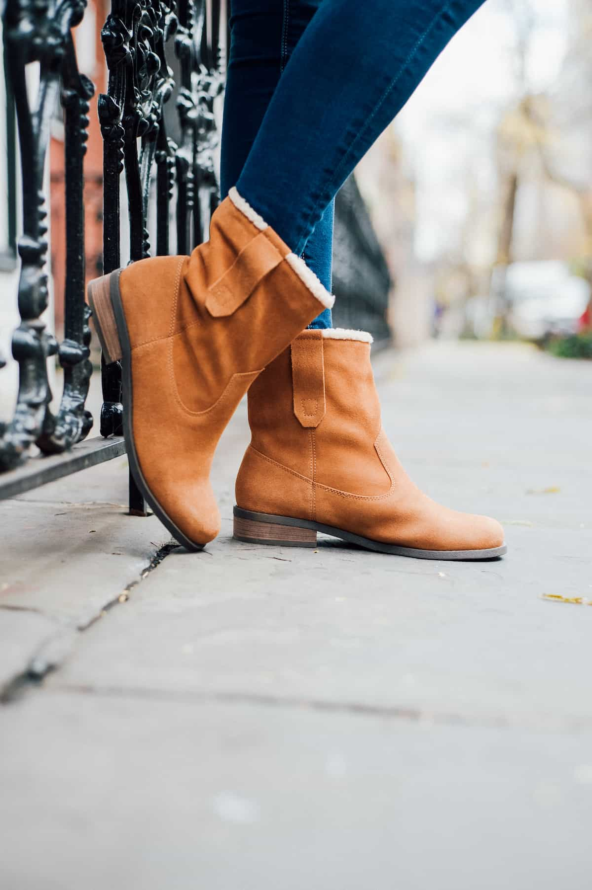 Sole Society Faux Shearling Booties