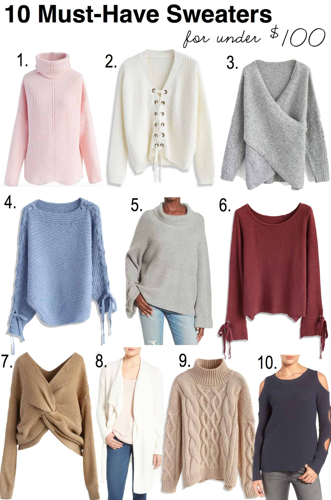 10 Must Have Sweaters Under $100