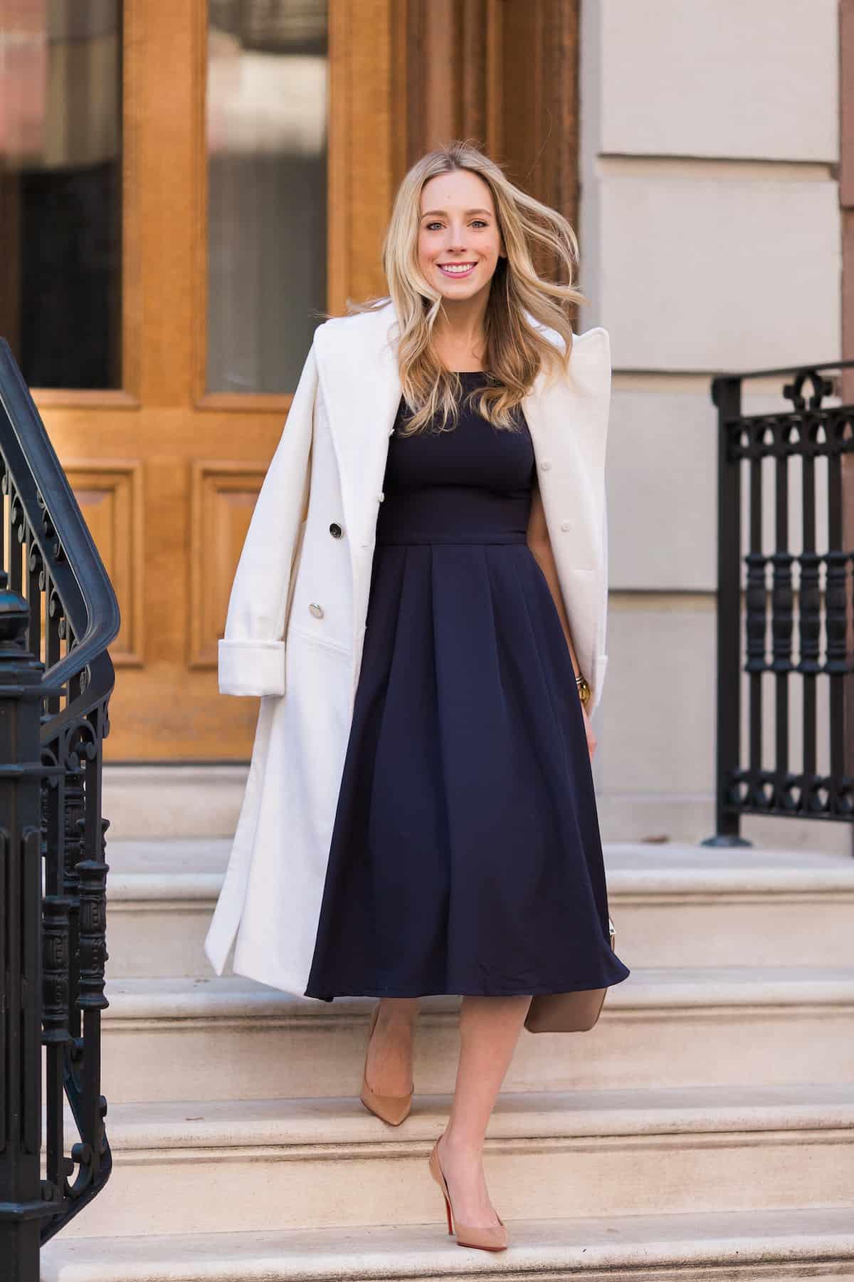 Eliza J Wool Trench Coat