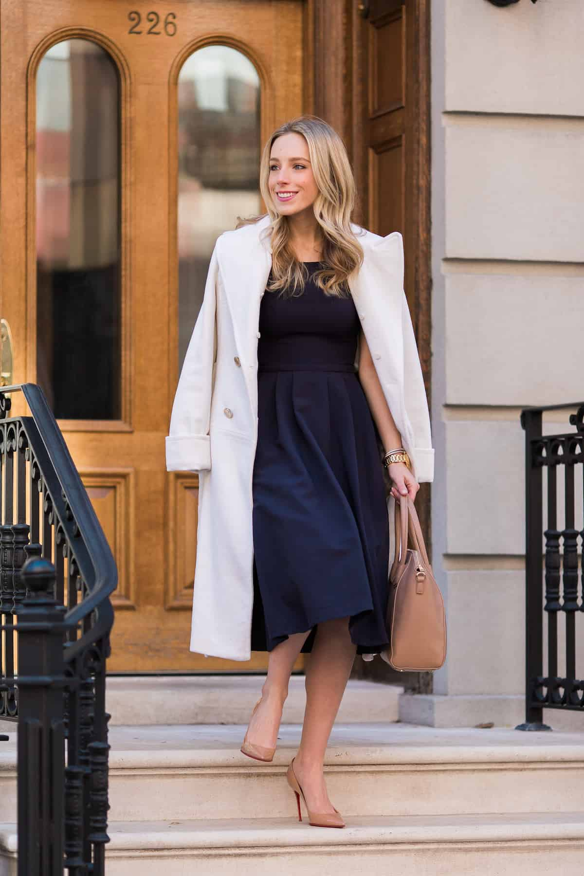 Navy Fit & Flare Dress