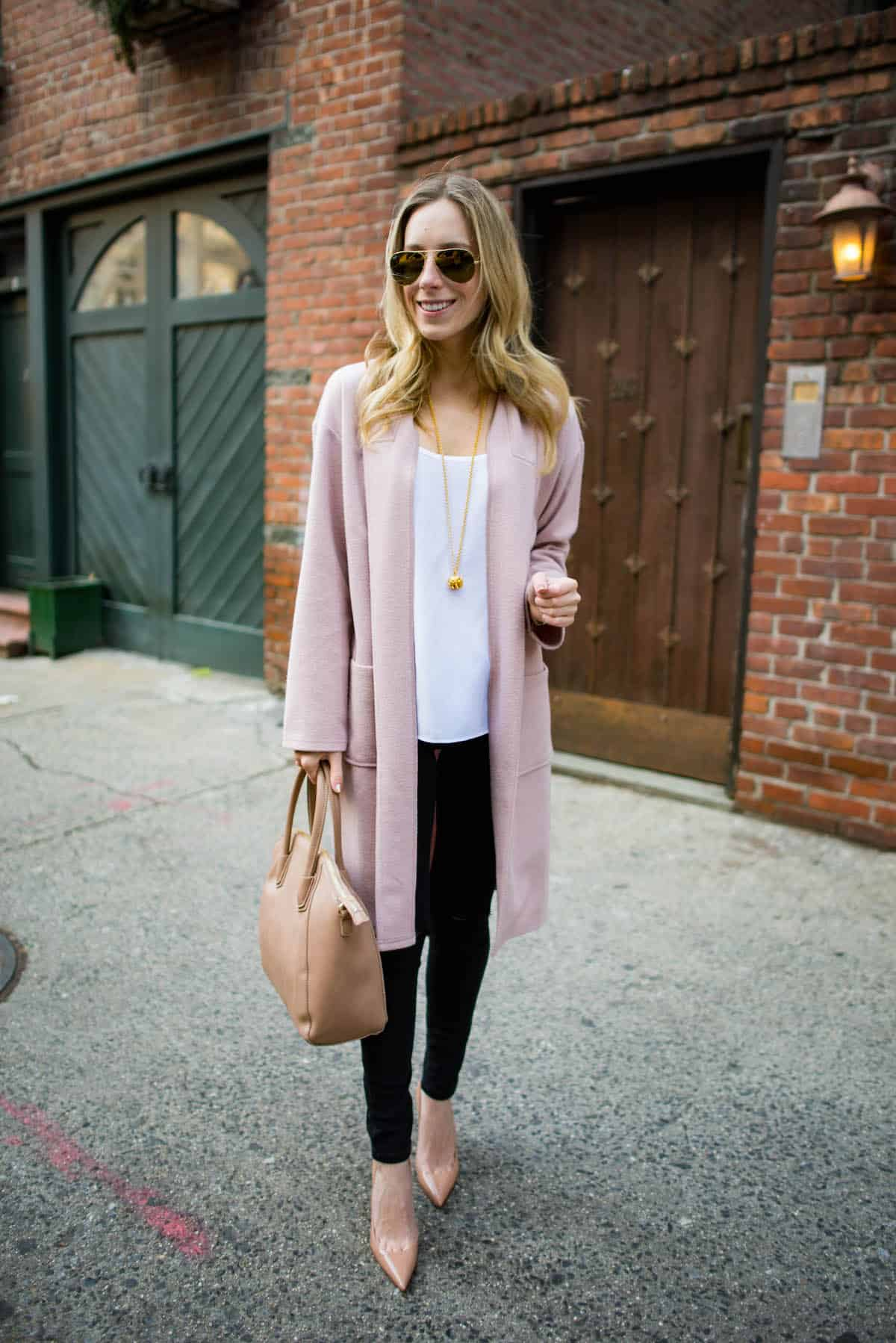 Pink Cardigan Coat