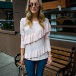 Pleione Ruffle Sweatshirt
