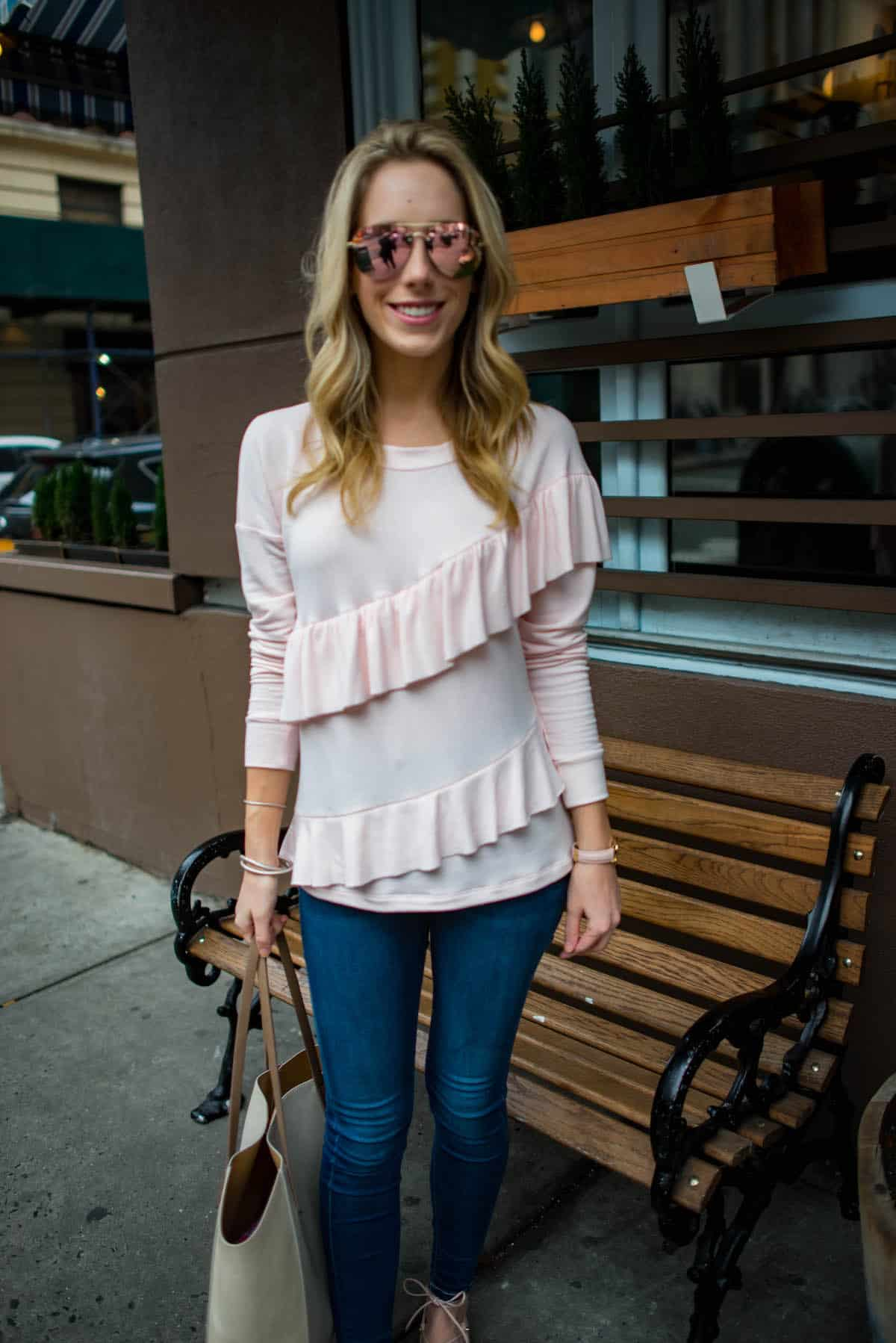 Pleione Ruffle Sweatshirt-2