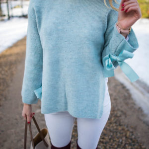 Topshop Bow Sweater