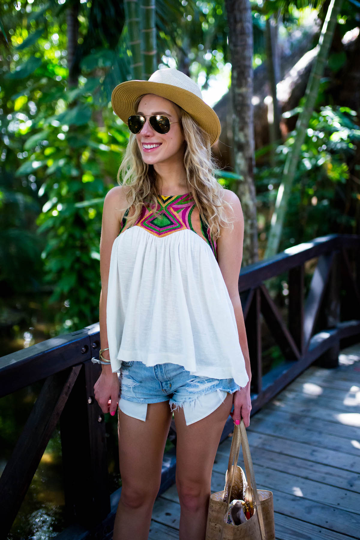 Free People Embroidered Tank Top