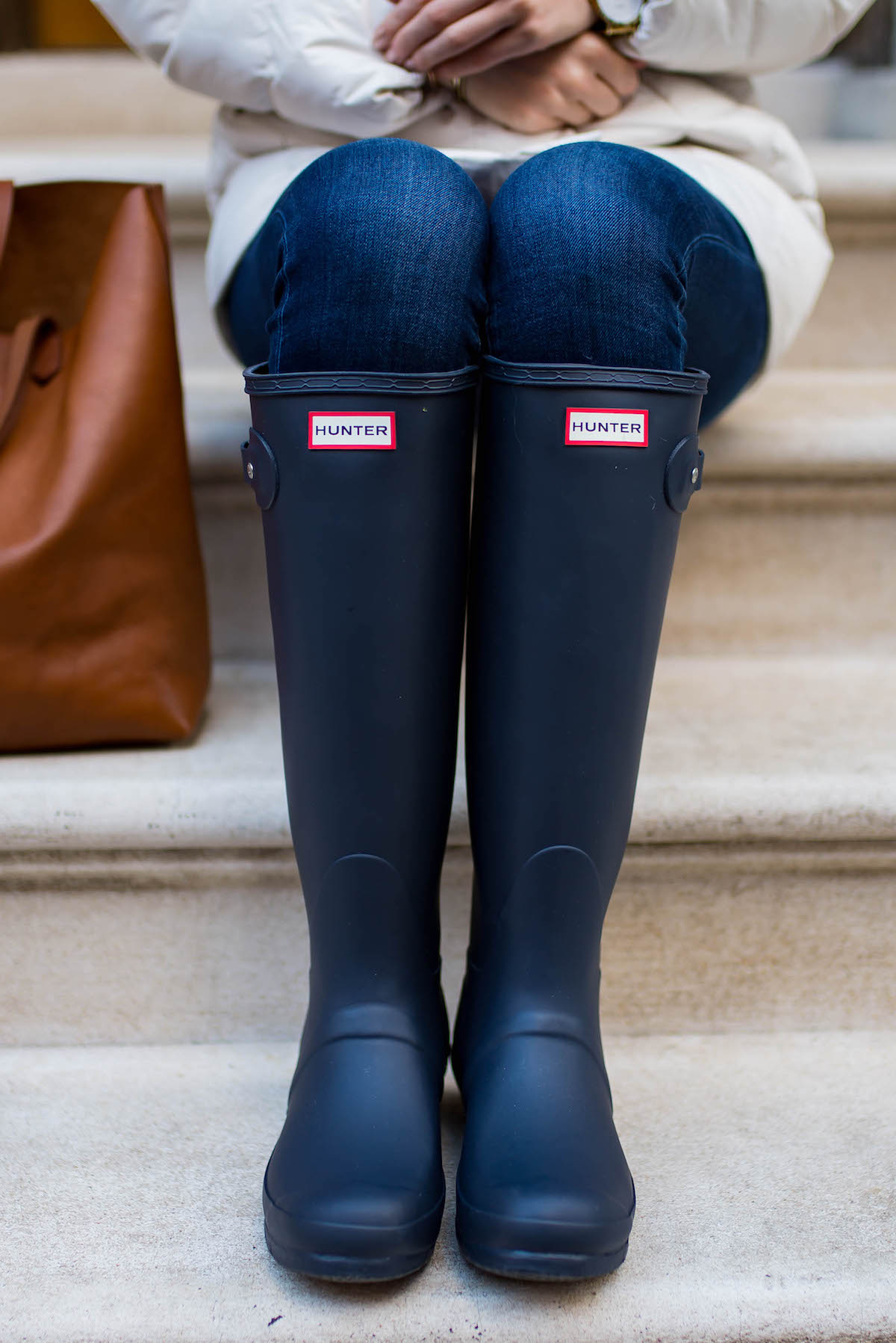 Navy Hunter Rain Boots