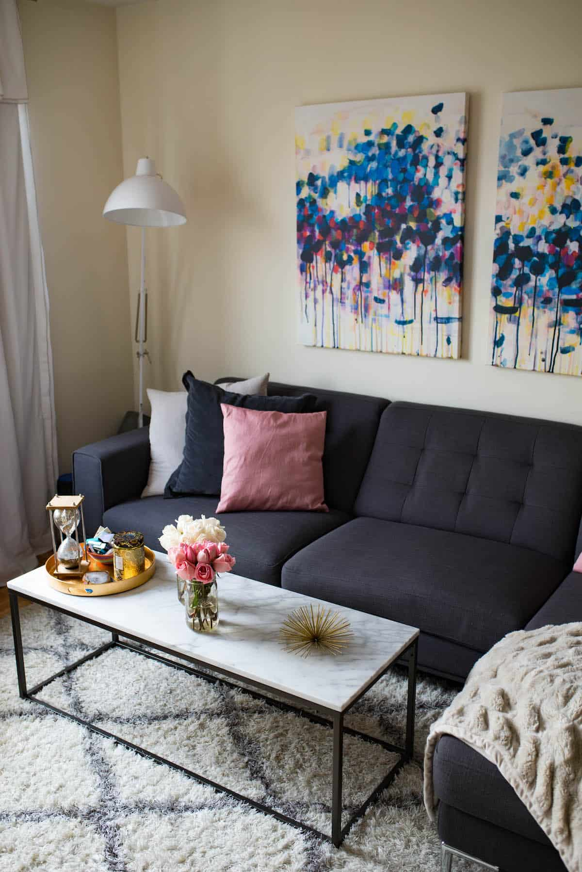 New York City Apartment Living Room-11 | Katie\'s Bliss