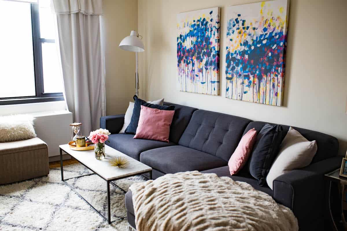 Home decor update new york city apartment 2017 katie 39 s bliss for I ve been seeing angels in my living room