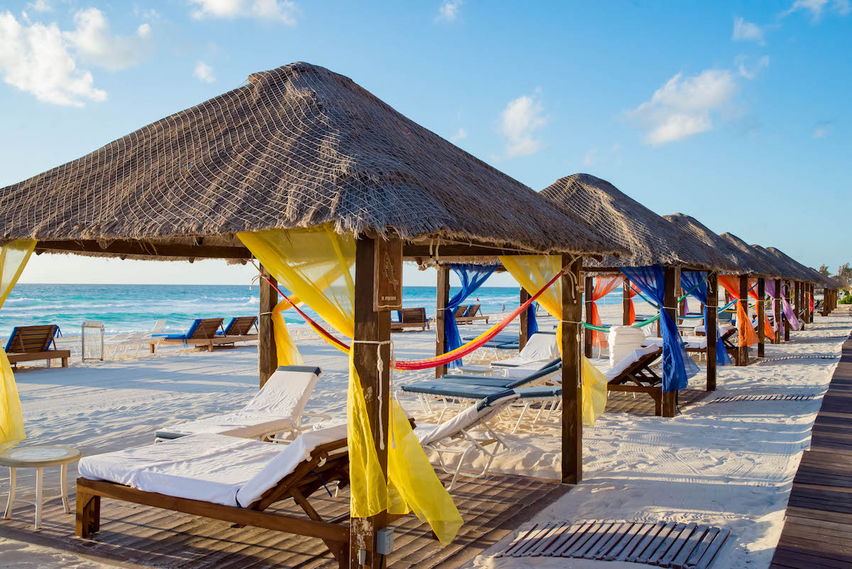 Beach Cabanas at The Ritz-Carlton Cancun