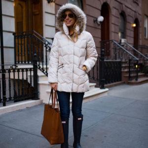 White Down Puffer Coat