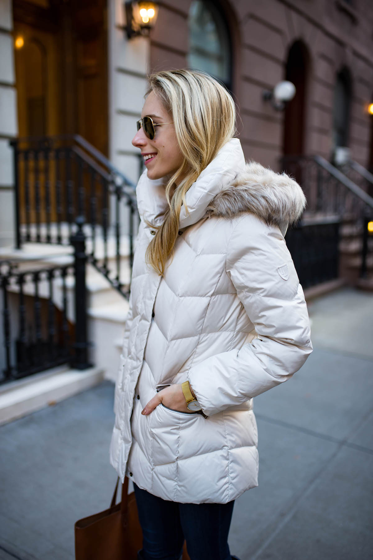 White Down Puffer Coat