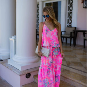 Lilly Pulitzer Aletta Crop Top & Maxi Skirt