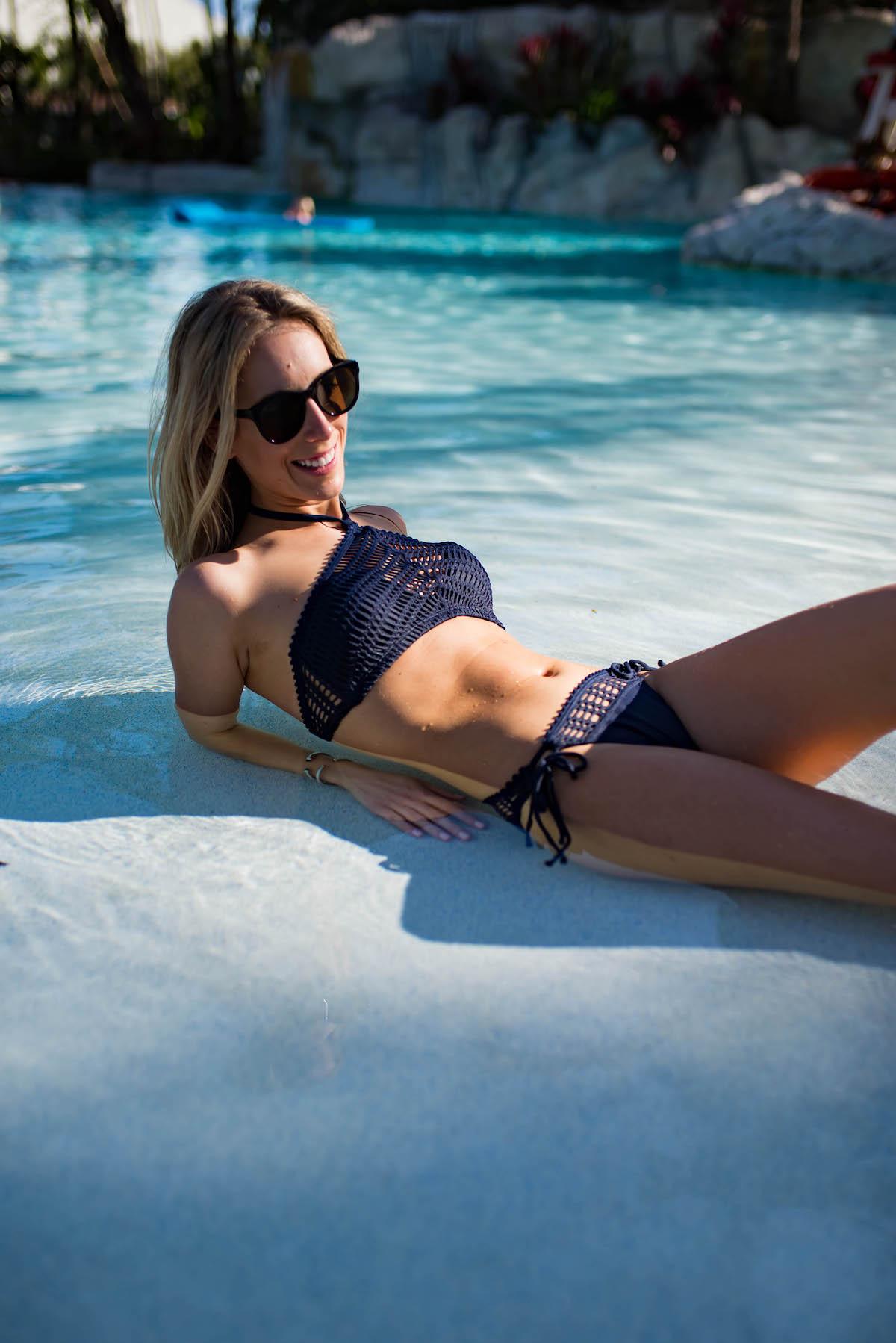 Navy Halter Bikini