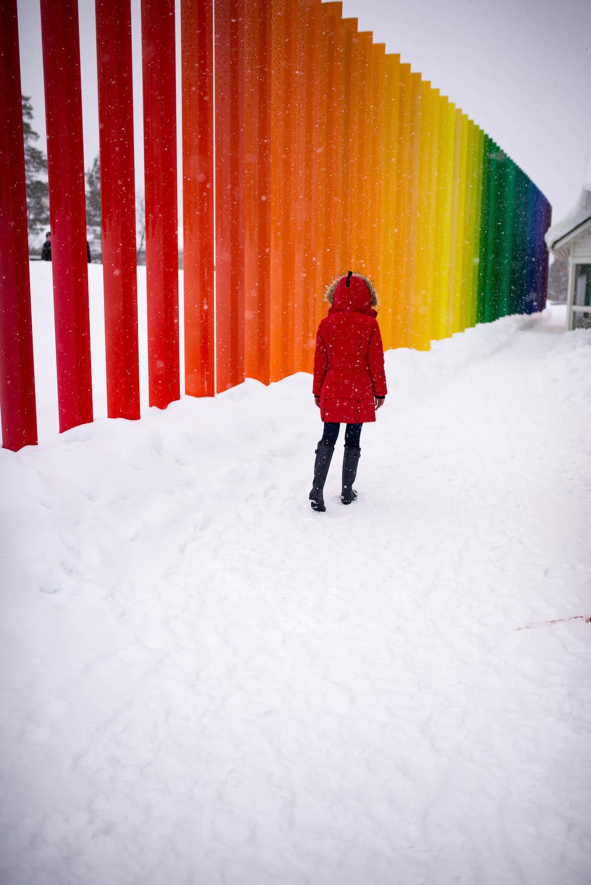 Saariselk 228 Spectrum The Most Colorful Fence In Finland