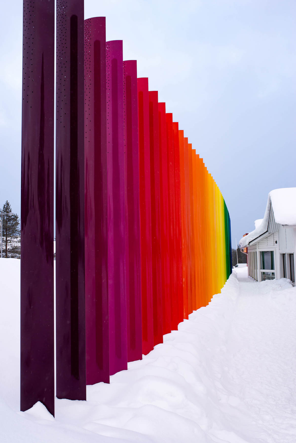 Saariselka Finland Rainbow Fence