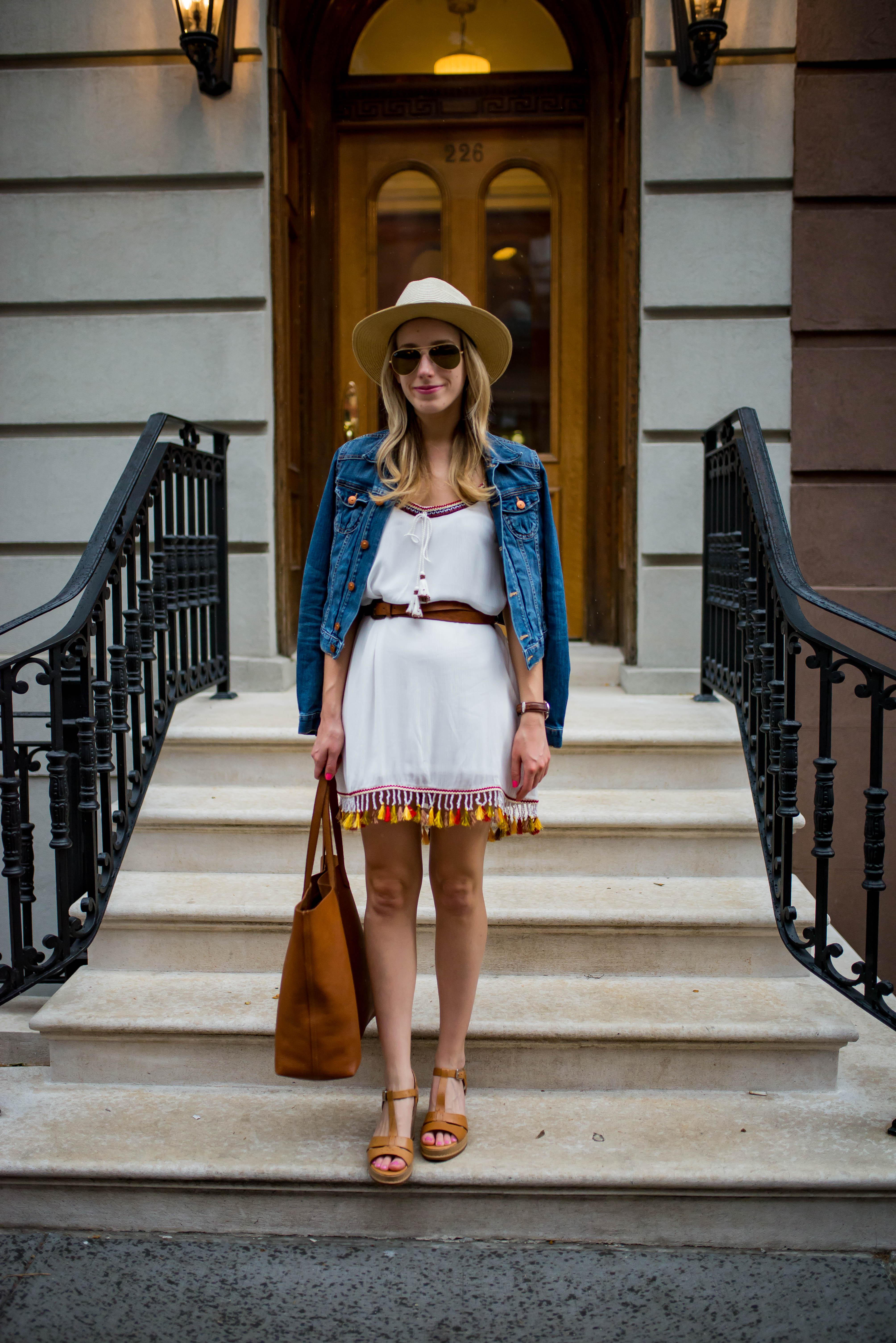 Belted Tassel Dress