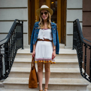 Belted Tassel Dress