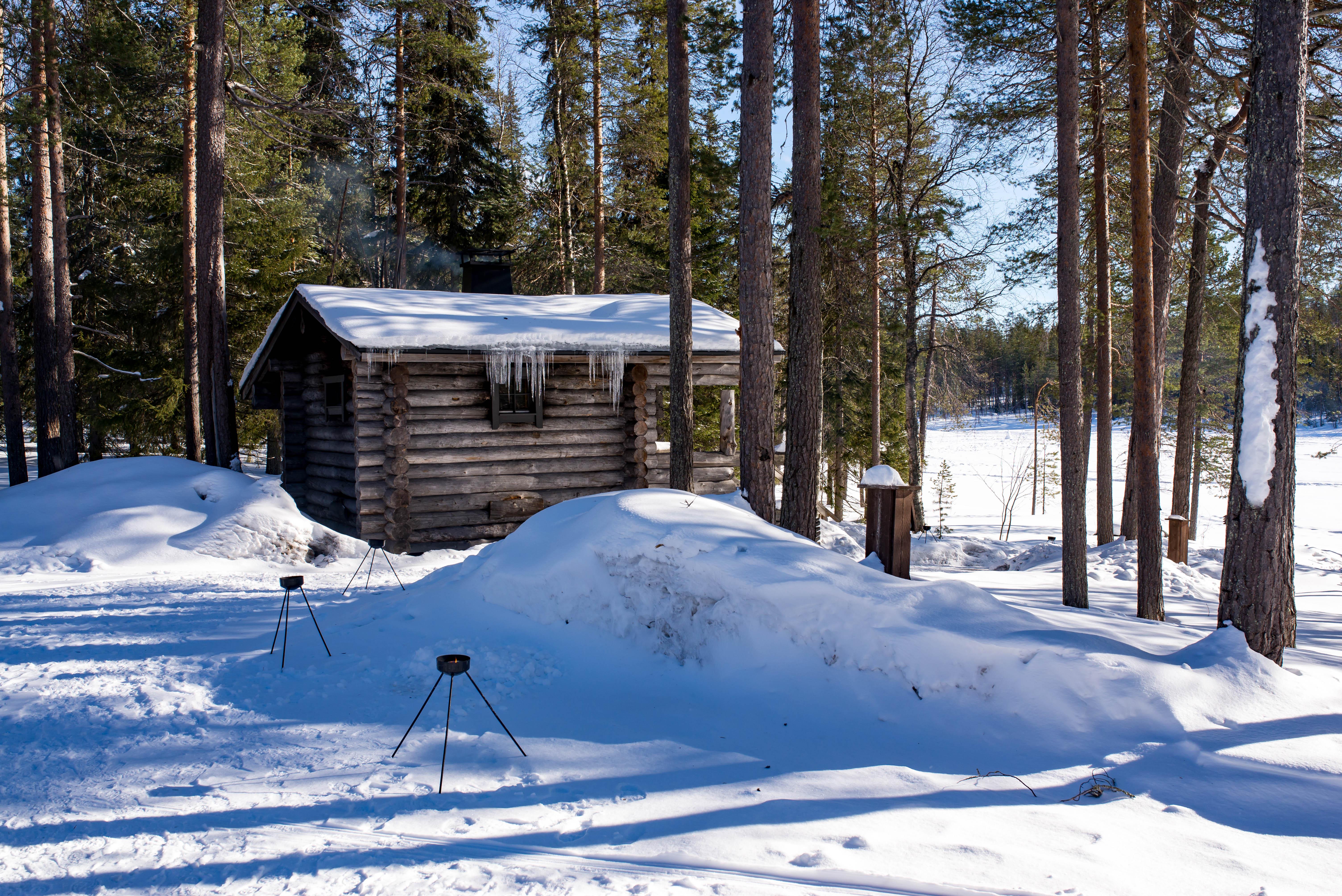 Outdoor Sauna Lapland Finland