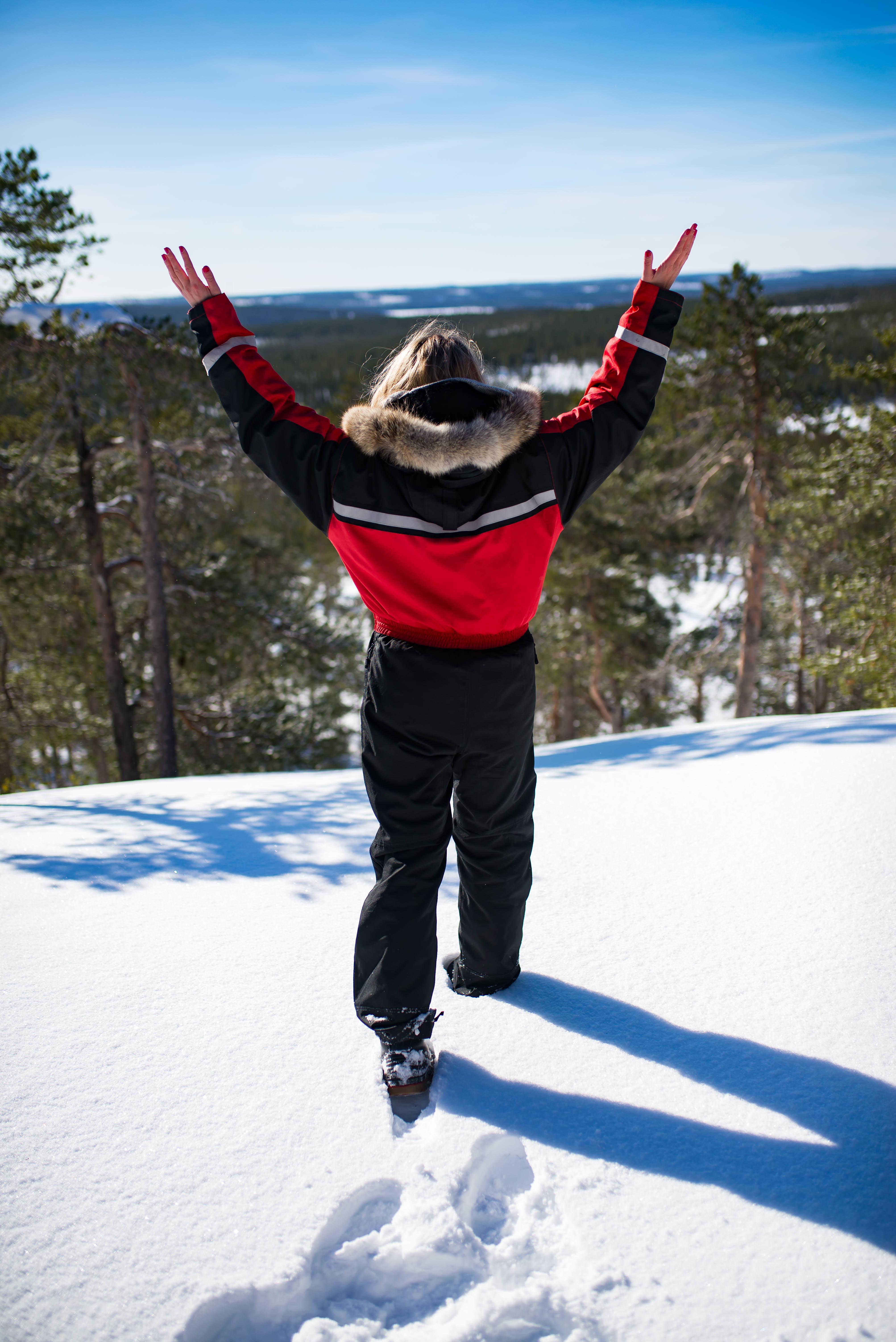Snowmobiling in Rovaniemi Finland