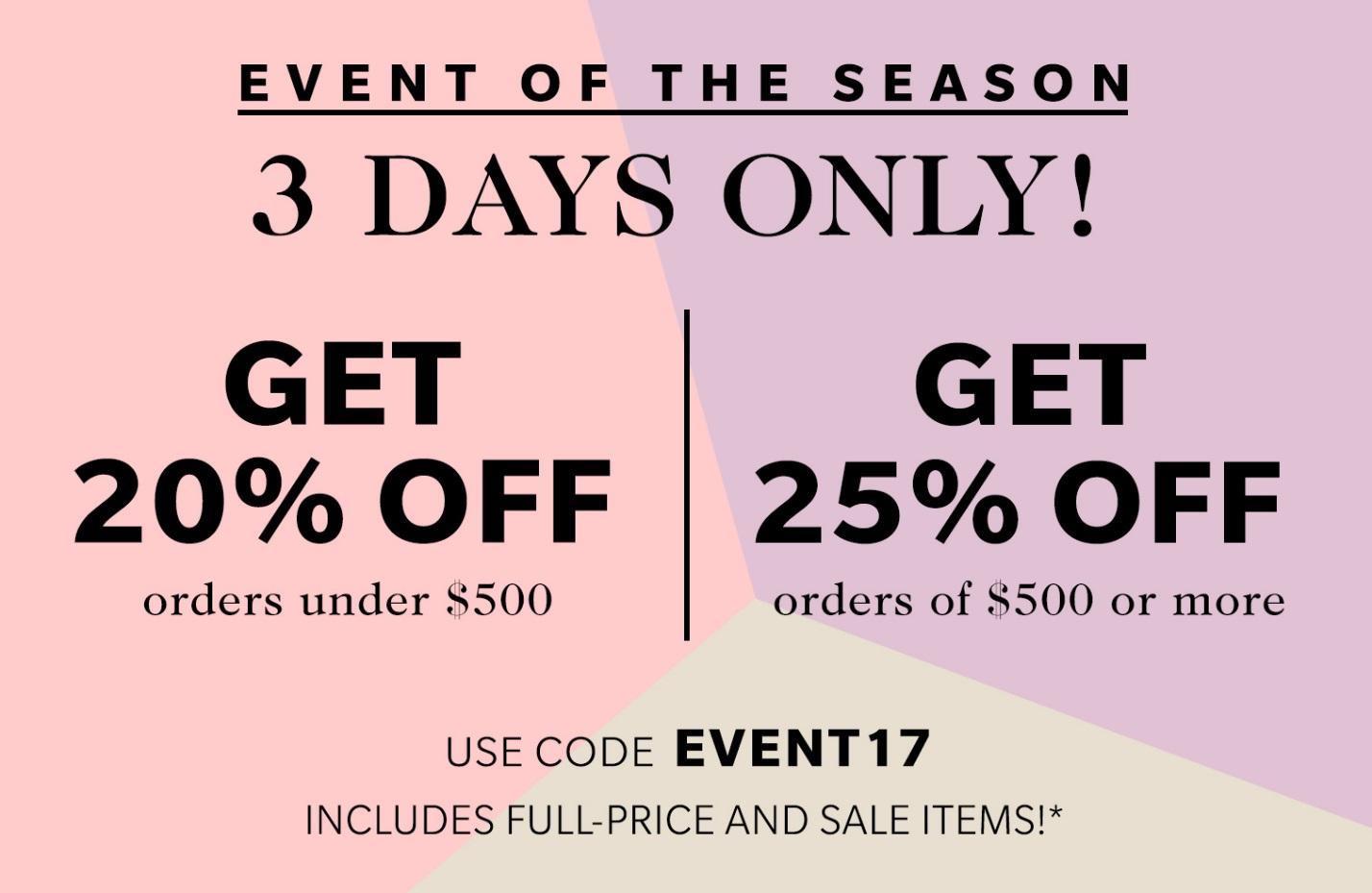 Shopbop Event of the Season Sale