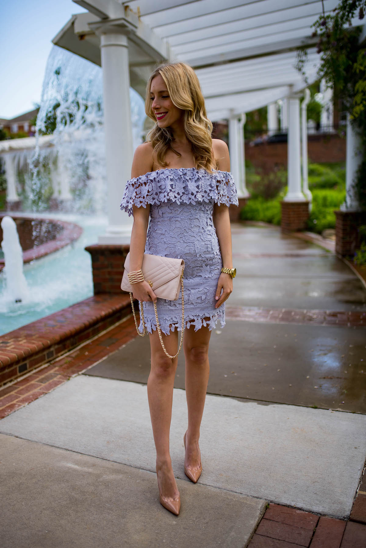 30f6d0bd91b0 The Perfect Spring Cocktail Dress. ASTR Lace Off The Shoulder Dress
