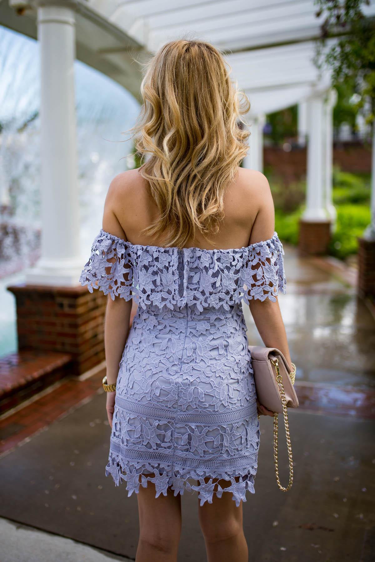 ASTR Lace Off The Shoulder Dress