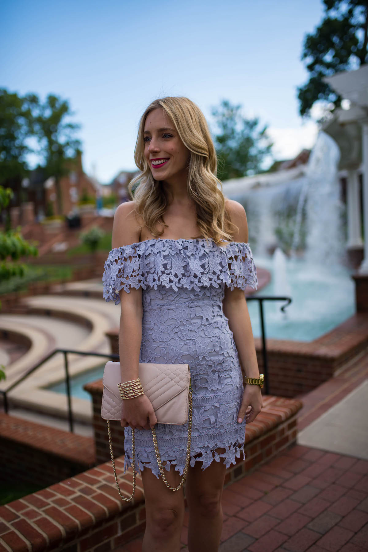 ASTR Lace Off The Shoulder Dress