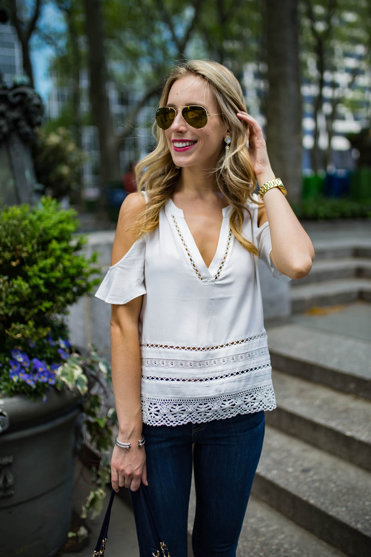 BB Dakota Cold Shoulder Blouse