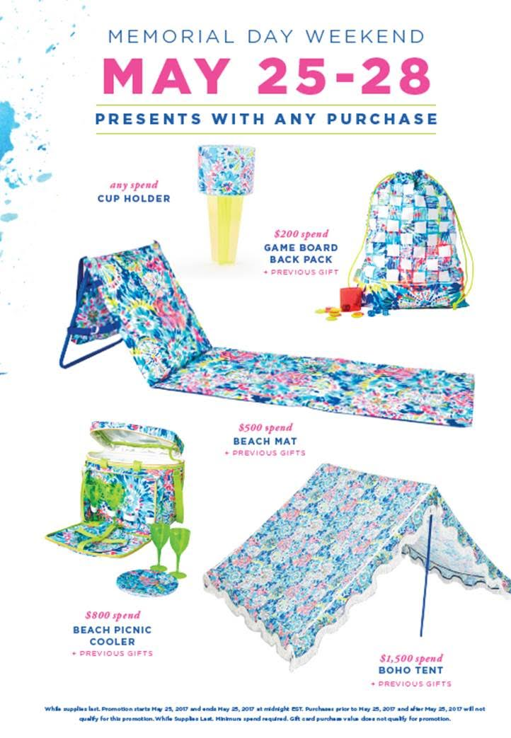 Lilly Pulitzer Memorial Day Promotion 2017