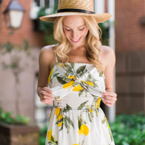 Lemon Print Cocktail Dress
